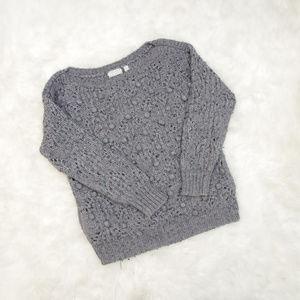 Kimchi Blue Pom Pom Knit Slouchy Sweater Tunic
